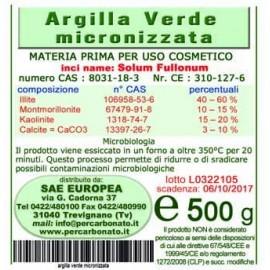 Argilla Verde Micronizzata 500 grammi