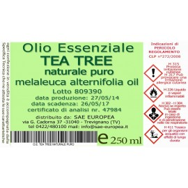 Olio Essenziale TEA TREE NATURALE PURO - 250 ml