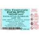 Olio Essenziale EUCALIPTO NATURALE PURO - 100 ml