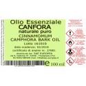 Olio Essenziale CANFORA NATURALE PURO - 100 ml