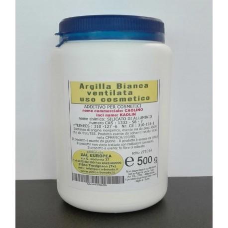 Caolino - Argilla bianca ventilata - barattolo da 500g