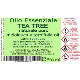 Olio Essenziale TEA TREE NATURALE PURO - 500ml