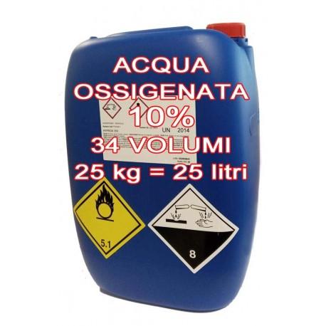Perossido d'idrogeno 10% - 25 kg